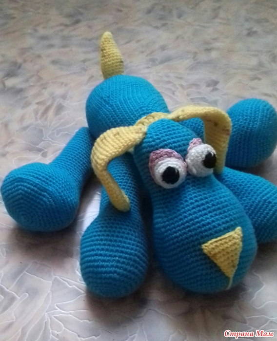 собака вязаная крючкомсхема игрушки крючком спицами страна мам