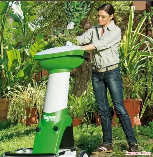 Выбор садового шредера (измельчителя веток и листьев)