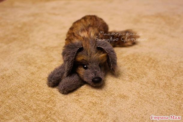 """. МК : изготавливаем игрушку """" Лежащий пёс """""""