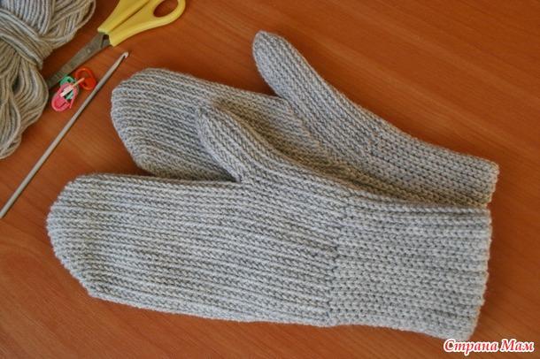 . Просто рукавички крючком