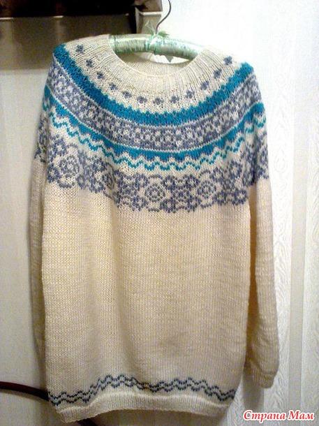 Схема вязания исландского свитера