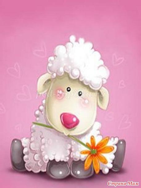 Свадьбой квиллинг, открытка с овечкой