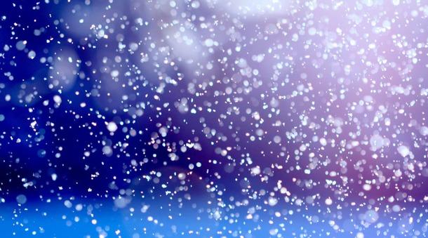 Снег идет.
