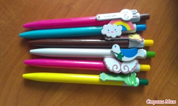 Наклейки, ручки и мини лупа)))+