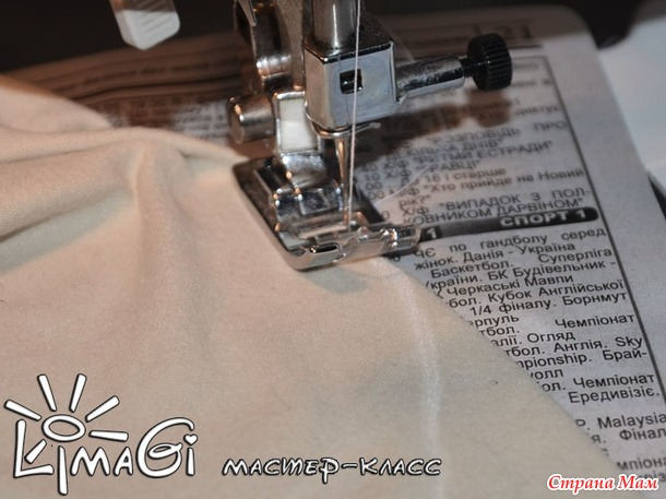 Простая подкладка в шапку (из футболки) от LimaGi