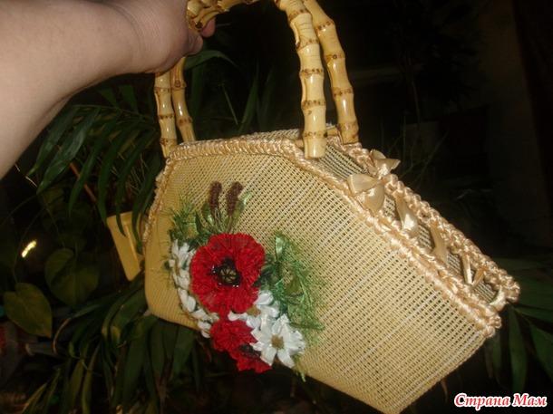 Летняя сумочка с маками из серии сумочки SHELIN