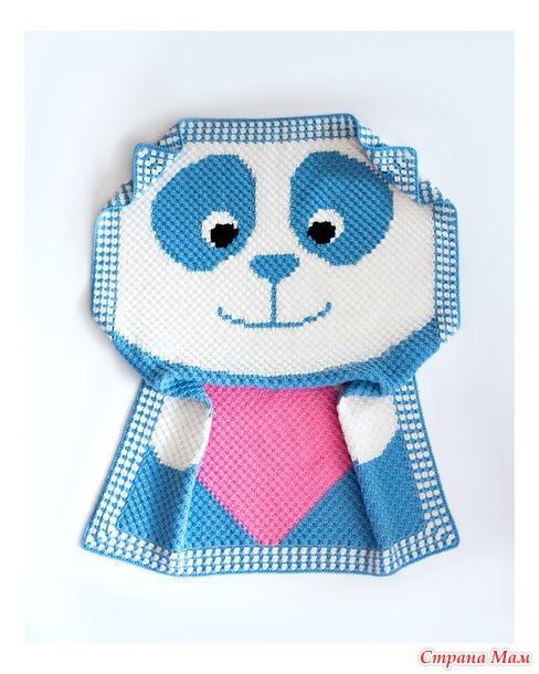 """Детский плед """"Голубая Панда"""""""