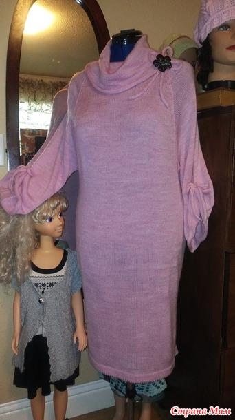 платье на вязальной машине машинное вязание страна мам