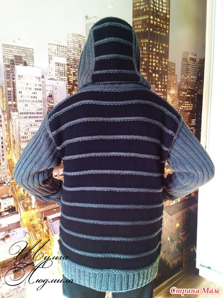 """Мужская куртка """"Универ"""" (авторская работа с описанием)."""
