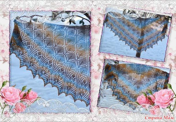 Серия шалей из ровницы