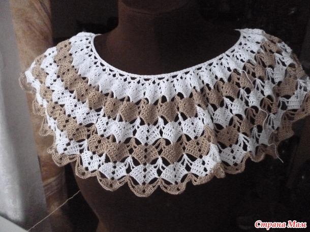 Ажурная блуза вяжем он-лайн.