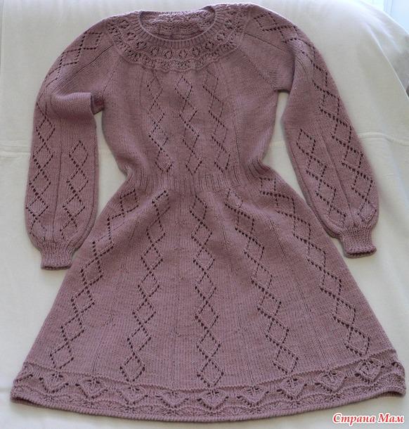 Мастер класс. Приталенное платье с круглой кокеткой и рукавом реглан.