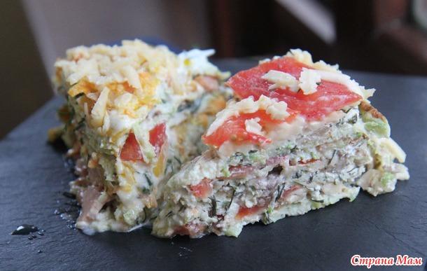 Еще два варианта кабачкового торта + домашний майонез