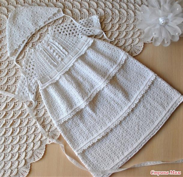 Крестильное платье для девочки