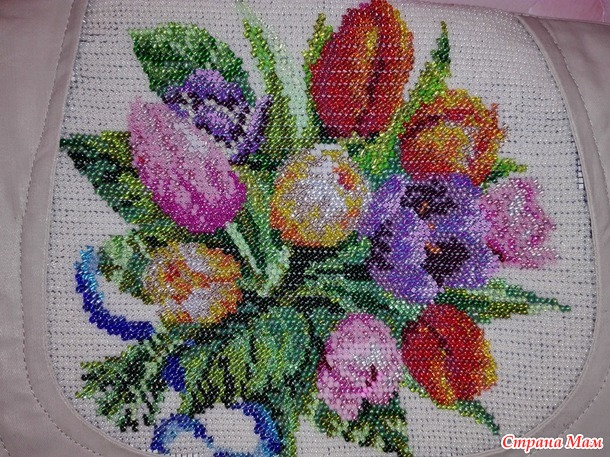"""Сумка - почтальон """"Весенние тюльпаны"""""""