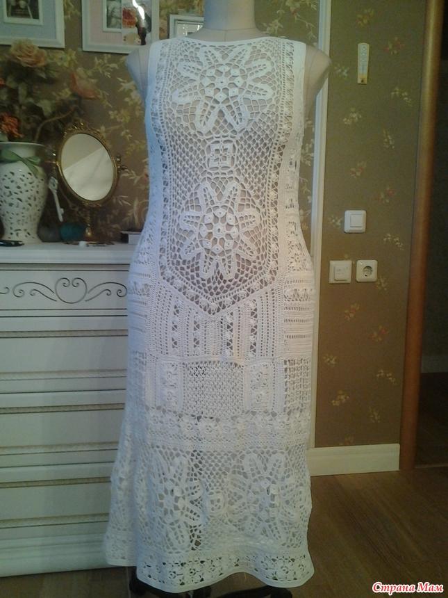 Вязание крючком и схемы к ним платье для девочек 960