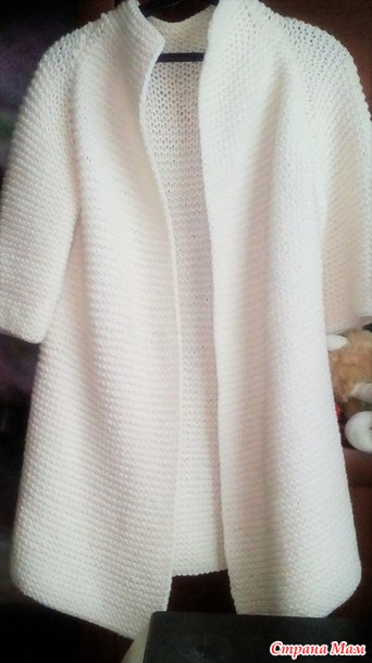 вязанное пальто спицами вязание страна мам