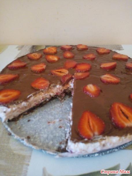 Открываю клубничный сезон - Нежный и вкусный тортик без выпечки!