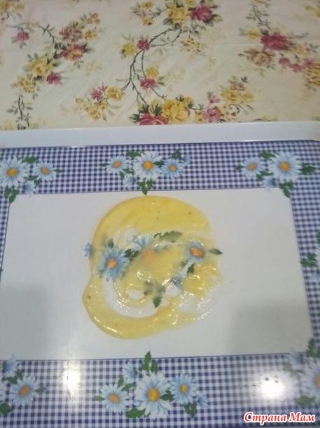 Торт на сковороде с заварным кремом.