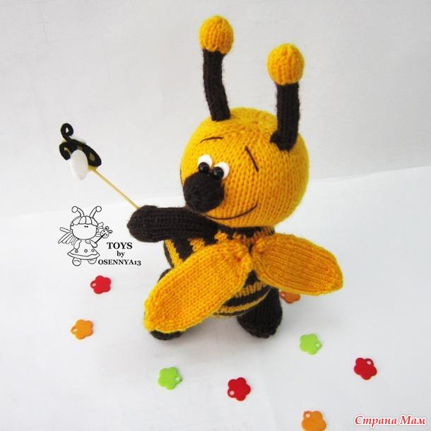 """Он-лайн """"Веселый пчел"""" (спицы)"""
