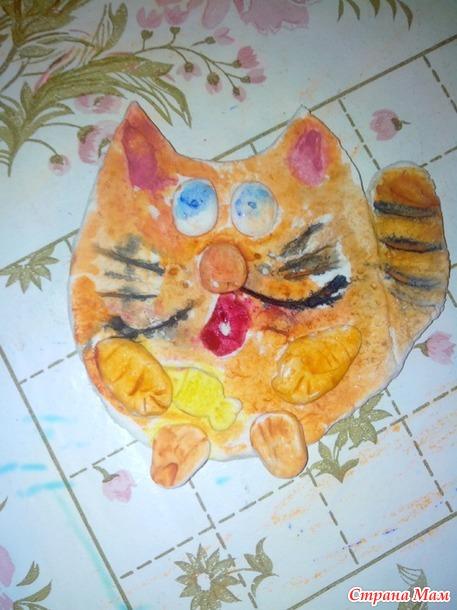 Котик из соленого теста