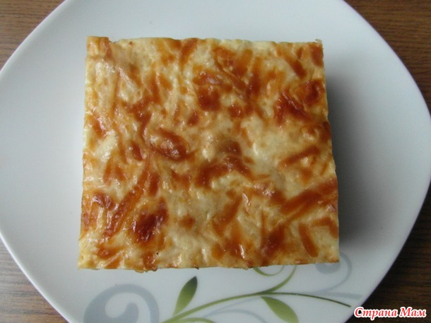 Спагетти - запеканка под белым соусом...