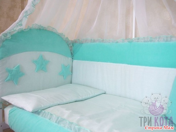 Конверты на выписку, комплекты в кроватку, корзинки-переноски. Комплект в круглую кроватку.