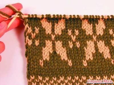 жаккард обычный техники вязания часть 6 вязание спицами страна мам