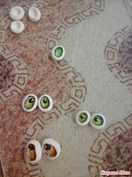Мк по глазкам для игрушек