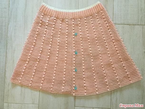 . Эффектная юбка крючком. Междусобойчик#1