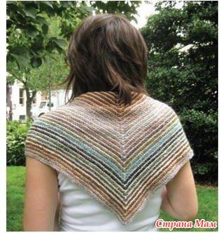 мини косынка или шейный платок пошаговые фото вязания прядение
