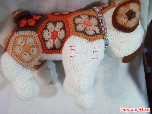 Собака африканским цветком. Он-лайн