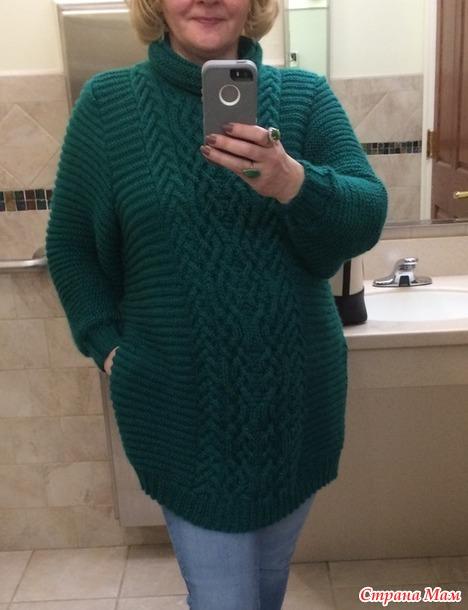 . Туника-свитер спицами