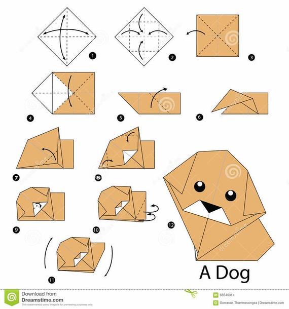 Собачки из бумаги