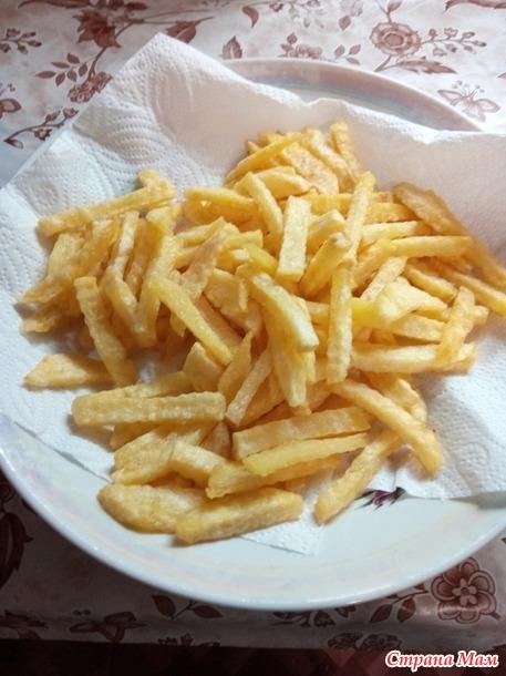 Картошка фри в мультиварке.