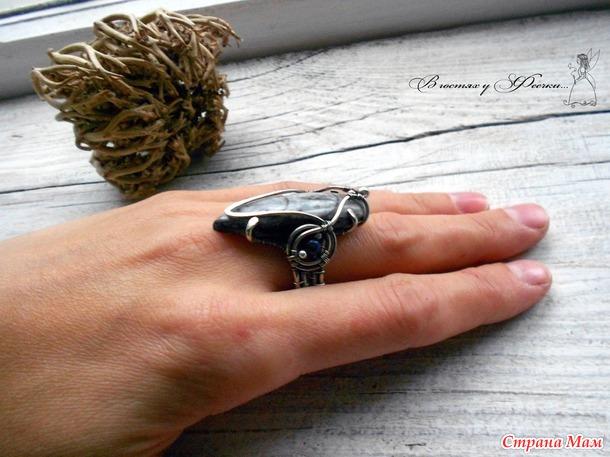 Кольцо с ортоцерасом (wire wrap) Россия и все желающие