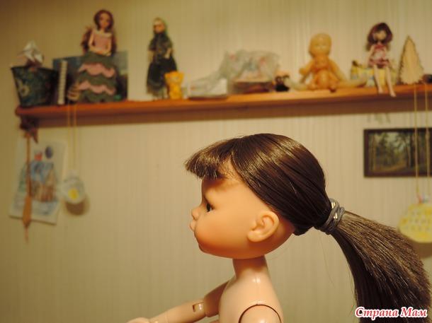 Завивка челки куклы Паоло Рейна