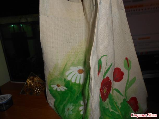 Мои сумочки сшитые и расписные.