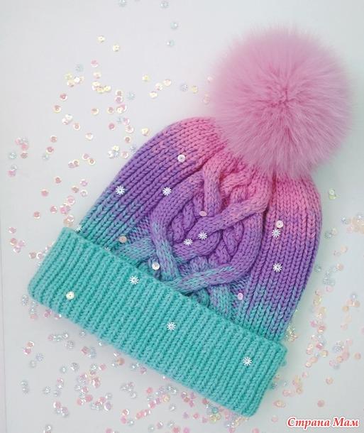 Опрос на он-лайн по зимней шапочке спицами