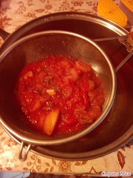 Томатно-сливовый соус.