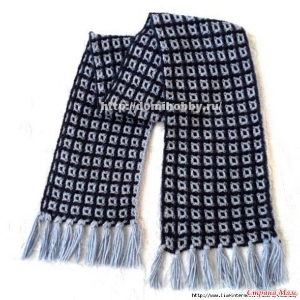 Мужской клетчатый шарф.