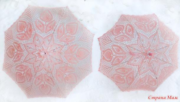 Зонт крючком. Тюльпан.