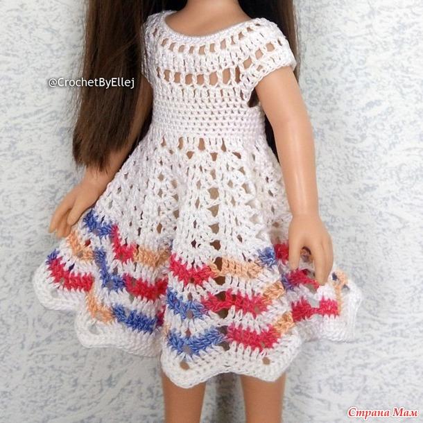 Платье Лилия крючком для паолочки. МК в ролике.
