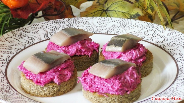 Бутерброды с сельдью вкусно и просто
