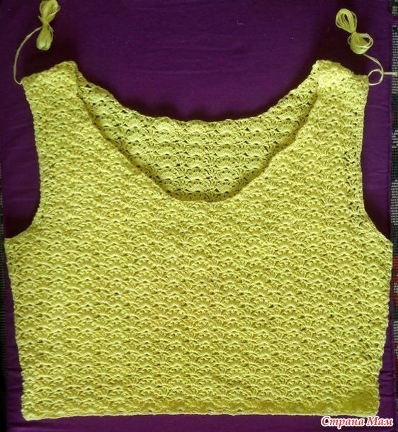 . Блуза желтая из вискозы