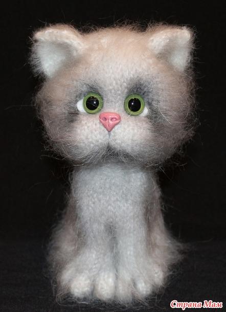 . Котик Рыжик спицами.
