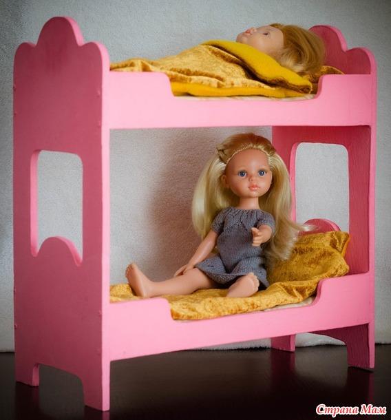 Двухярусная кроватка для кукол Paola Reina