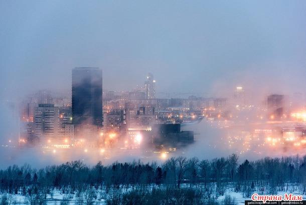 В Красноярск пришли 40-градусные морозы
