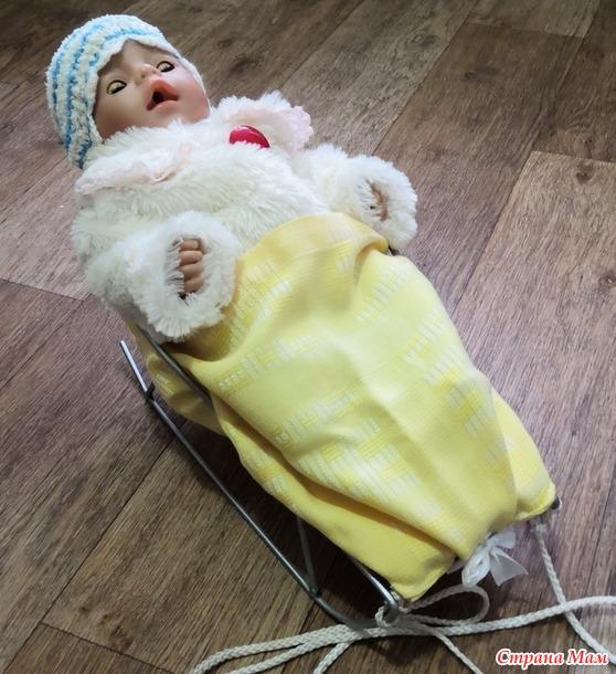 Матрасик для кукольных санок