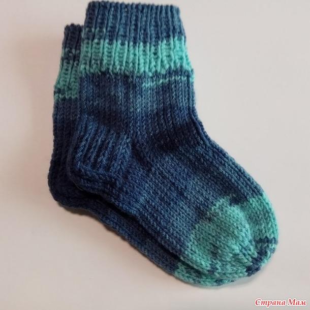 МК Детские носки спицами на 3 года